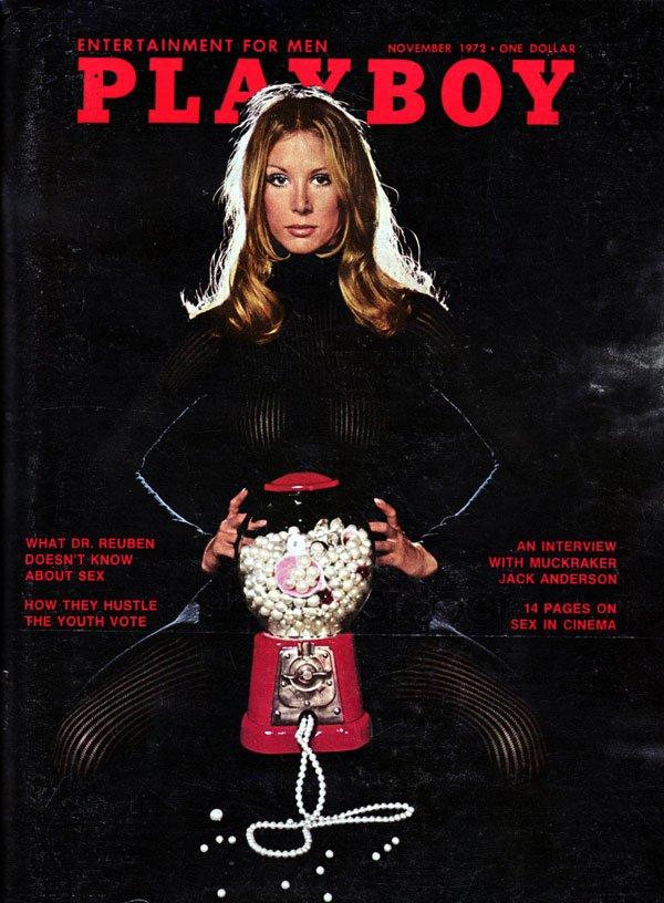 Playboy November 1972 magazine back issue Playboy magizine back copy Hugh Hefner Playboy Magazine Back Issue Covergirl PamelaRawlings