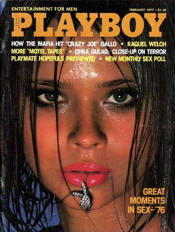 Playboy February 1977 magazine back issue Playboy magizine back copy Year in Sex Pictorial Playboy Nude Magazine for Men naked women sexy hot