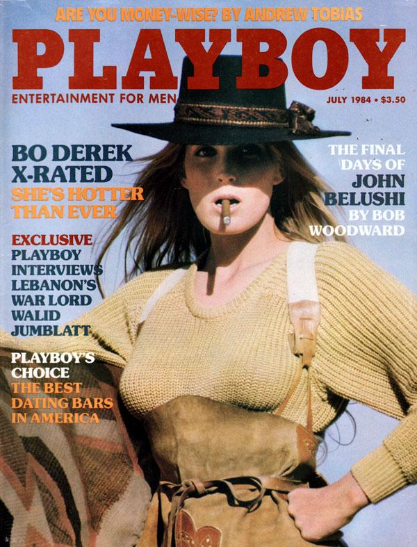Playboy July 1984 magazine back issue Playboy (USA) magizine back copy Bo Derel X-rated photo opportunity magazine pictorial playboy