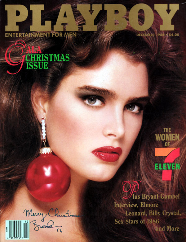 Playboy December 1986 magazine back issue Playboy magizine back copy Patrick Demarchelier's Gorgeous Girls Women of 701 Sex Stars of 1986