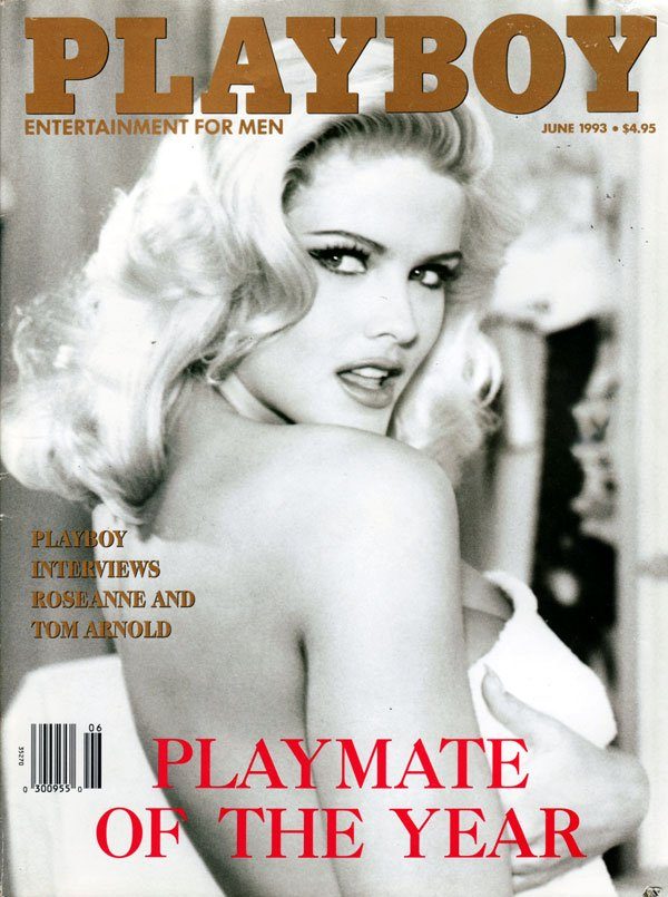 Playboy June 1993 magazine back issue Playboy magizine back copy Anna Nicole Smith Playmate of the Yeat Playboy xrated pictorial mensmags mensmagazines
