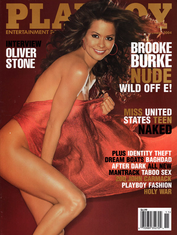 Playboy November 2004 magazine back issue Playboy magizine back copy brooke burke nude wild off e miss unitedstates teen naked taboosex identitytheft oliverstone playboy