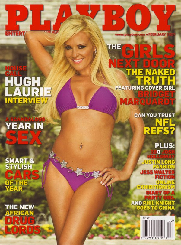 Playboy February 2009 - Bridget Marquardt Cover magazine back issue Playboy magizine back copy playboy magazine 2009 issues kendra wilkinson covergirl girls next door xxx photos sexy pictorials n