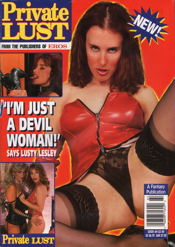 Private Lust # 64 magazine back issue Private Lust magizine back copy TITILLATINGLY YOURS,Coming Clean,Fetish Letters,devil woman, lusty,hardcore,lesbian sex action