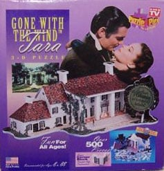 tara 3-d puzzle gonewiththewind puzzleplex as seen on tv made usa certificate of collectibility auth 3d-puzzle-tara-from-gone-with-the-wind