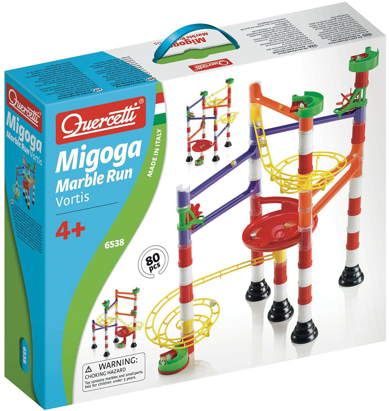 Quercetti Migoga Marble Run Vortis for ages 4 and up marble-run-vortis
