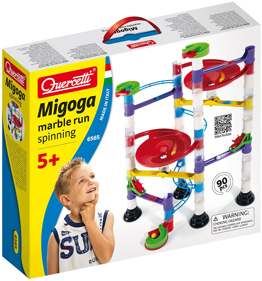 Quercetti Migoga Marble Run Spinning for ages 5 and up marble-run-spinning