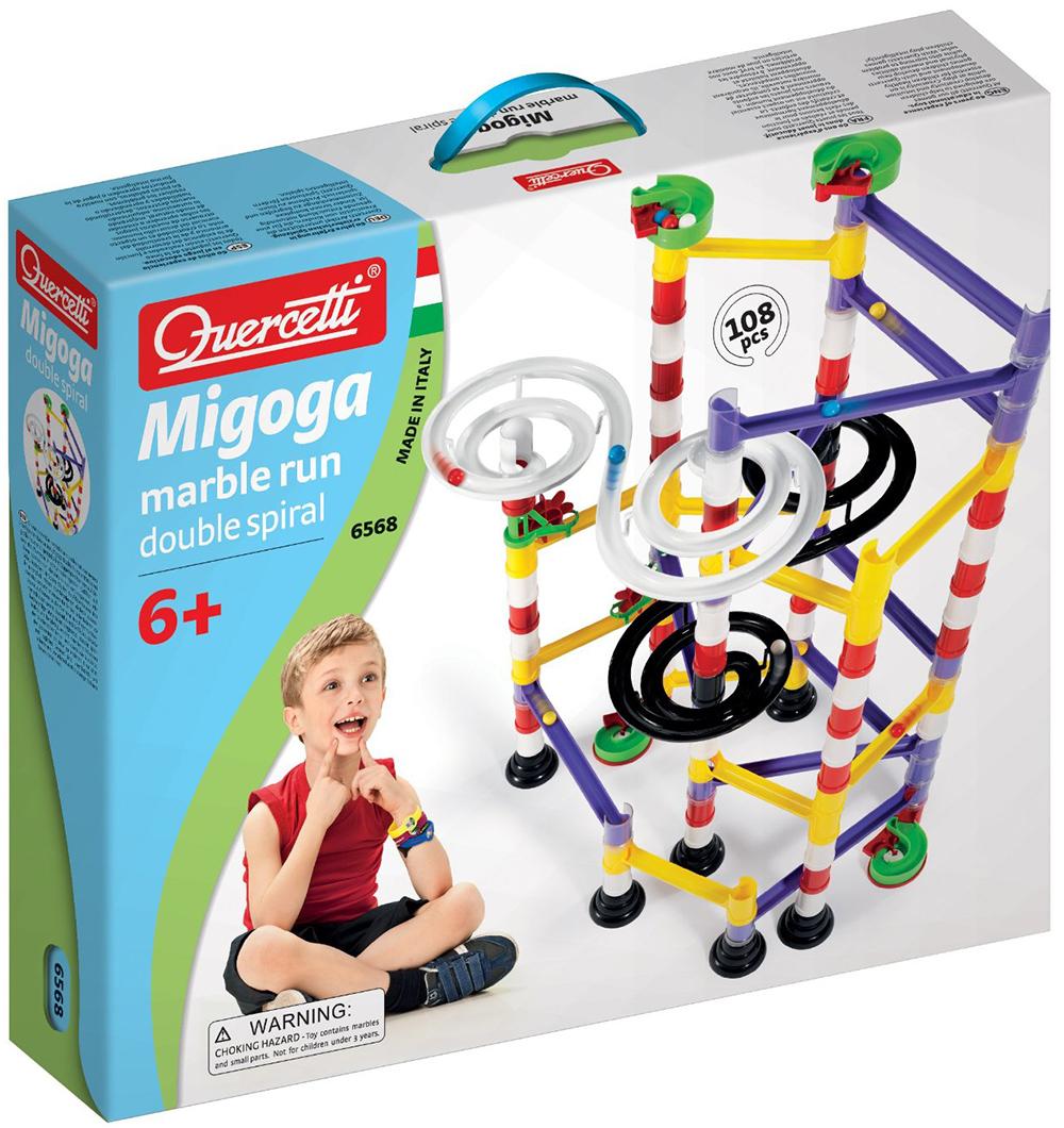 Quercetti Migoga Marble Run Double Spiral for ages 6 and up marble-run-double-spiral