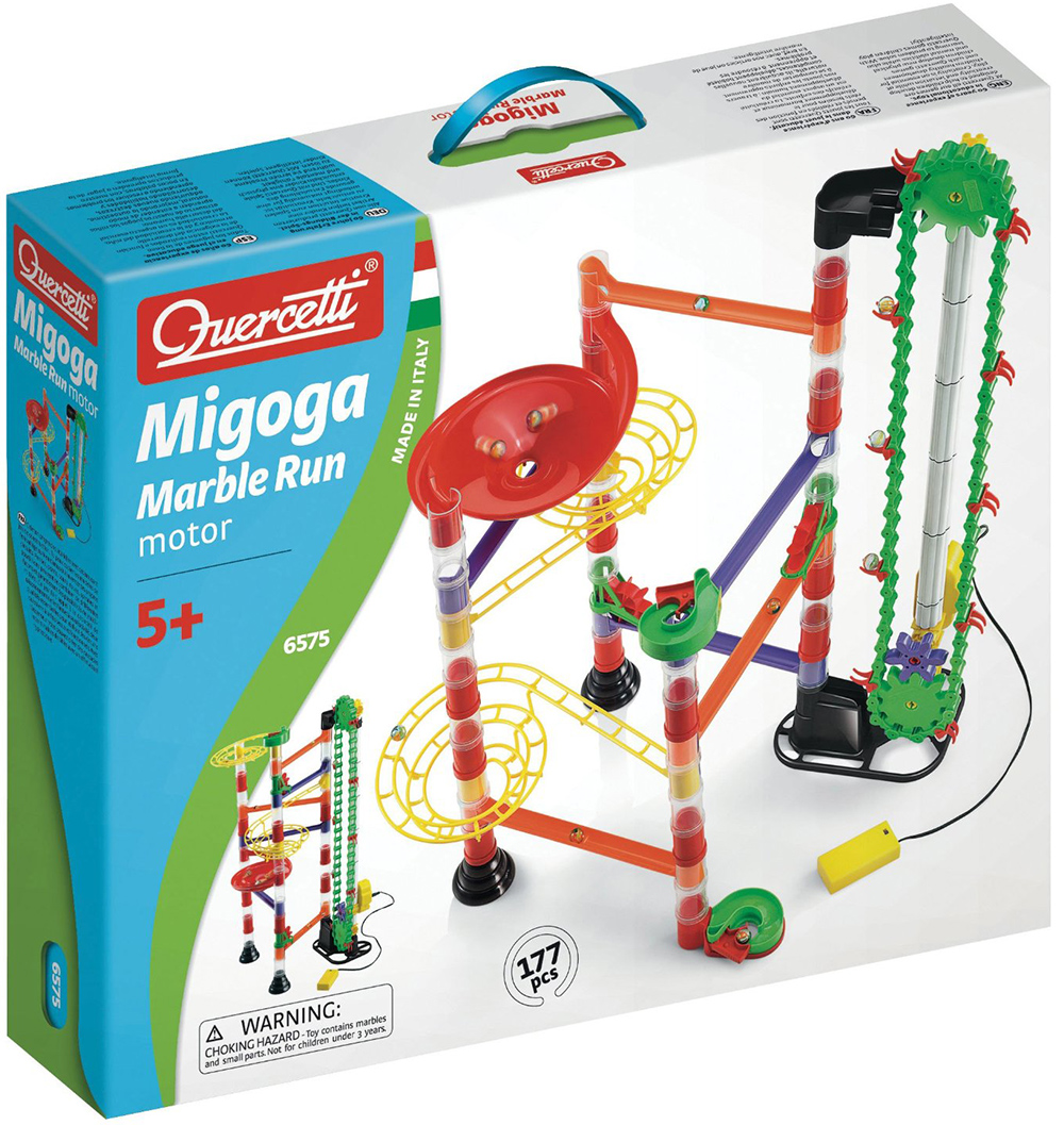 Quercetti Migoga Marble Run with Motorized Elevator marble-run-motorized-motor-quercetti