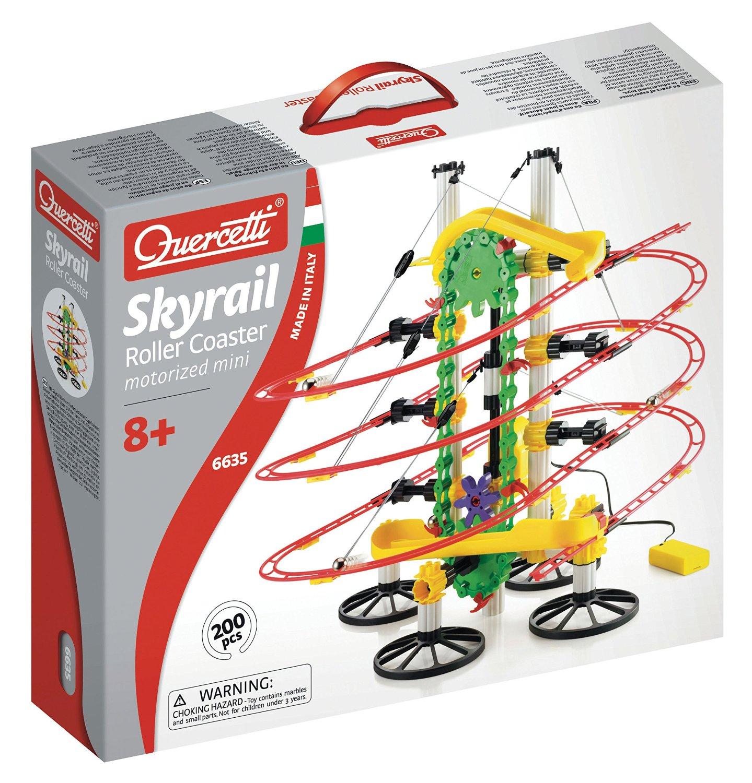 Quercetti Migoga Skyrail Motorized Roller Coaster Mini Rail motorized-roller-coaster-skyrail