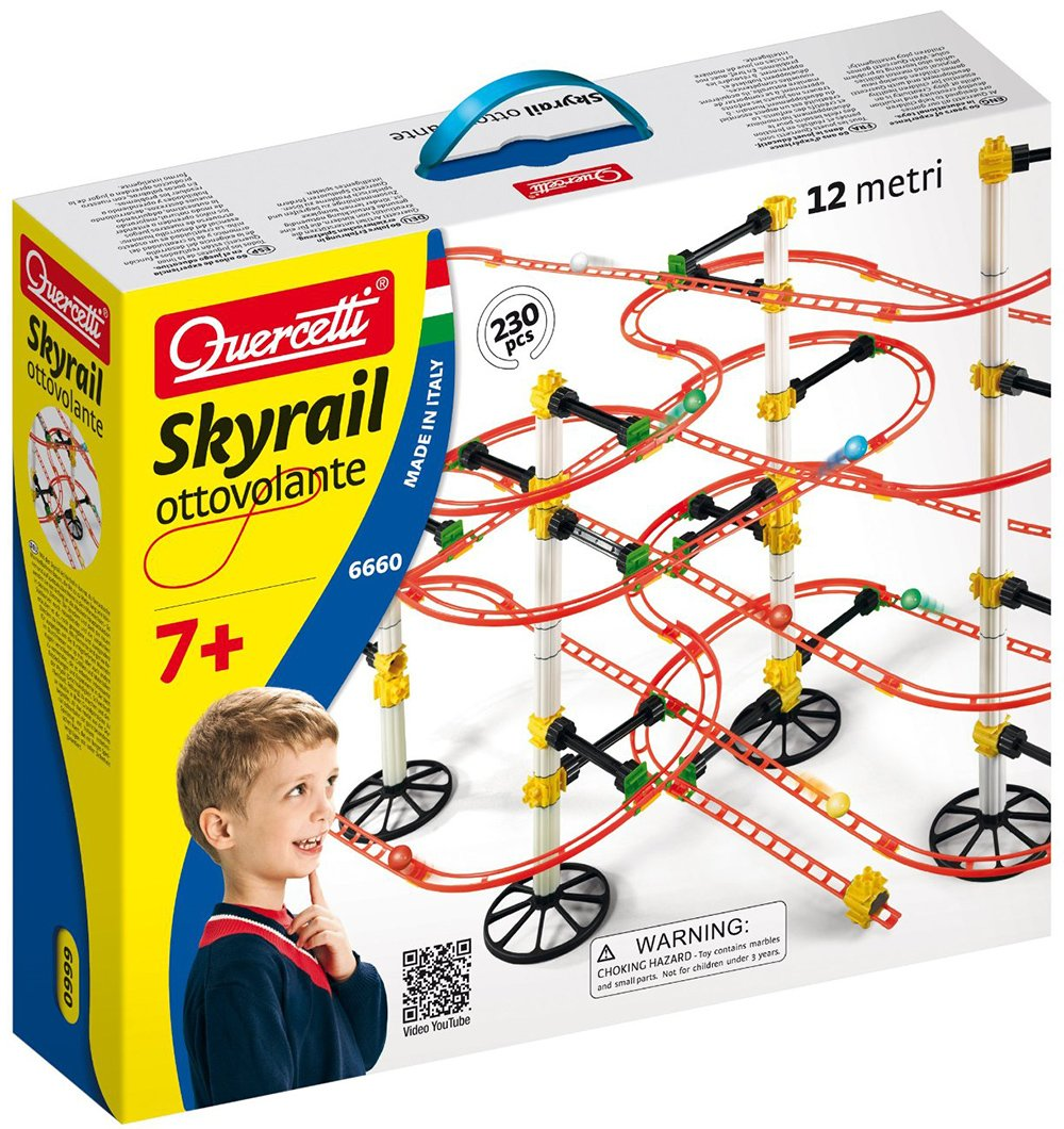 Quercetti Migoga Skyrail Ottovolanteg for ages 7 and up marble-skyrail-ottovolante