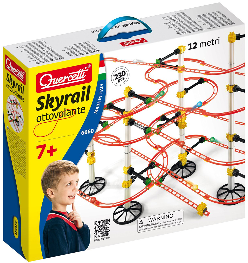 Quercetti Migoga Skyrail Ottovolanteg for ages 7 and up marble-skyrail-ottovolante
