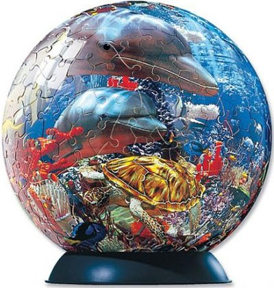 3d jogsaw puzzle ocean world 6 inch spherical globe showpiece collectable ball ocean-world-puzzle-ball