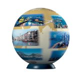 3d skylines jigsaw puzzleball of the planet earth 9 inch spherical globe showpiece collectable ball skylines-puzzleball-ravensburger-3d-globe-puzzle