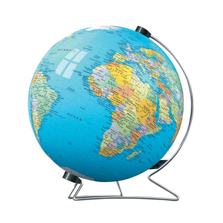3d earth jigsaw puzzle ball of the planet earth 9 inch spherical globe showpiece collectable ball earth-puzzleball-display-stand