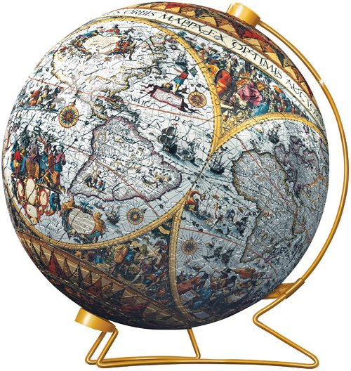 3d jigsaw puzzle ball of the ancient world globe planet earth 9 inch spherical globe showpiece colle ancient-world-map-3d