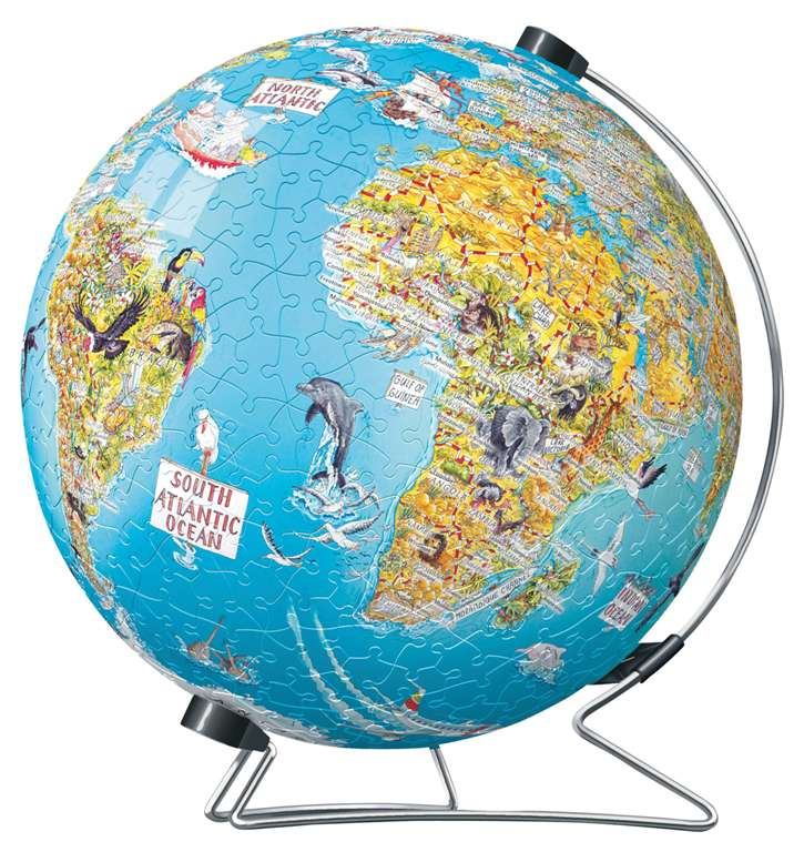3d earth jigsaw puzzle ball of the planet earth 9 inch spherical globe showpiece collectable ball discover-the-world-earth-puzzleball-display-stand