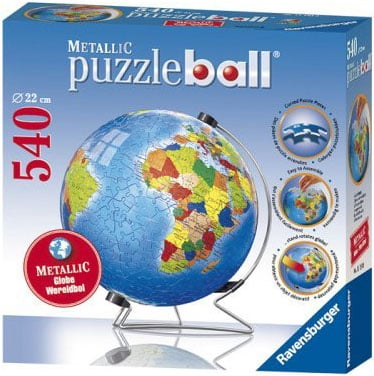 3d metallic jigsaw puzzle ball of the planet earth 9 inch spherical globe showpiece collectable ball metallic-earth-puzzleball