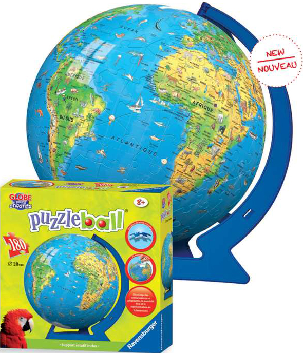 3d childrens earth extra large jigsaw puzzleball of the planet earth 8 inch spherical globe showpie childrens-earth-ravensburger-globe