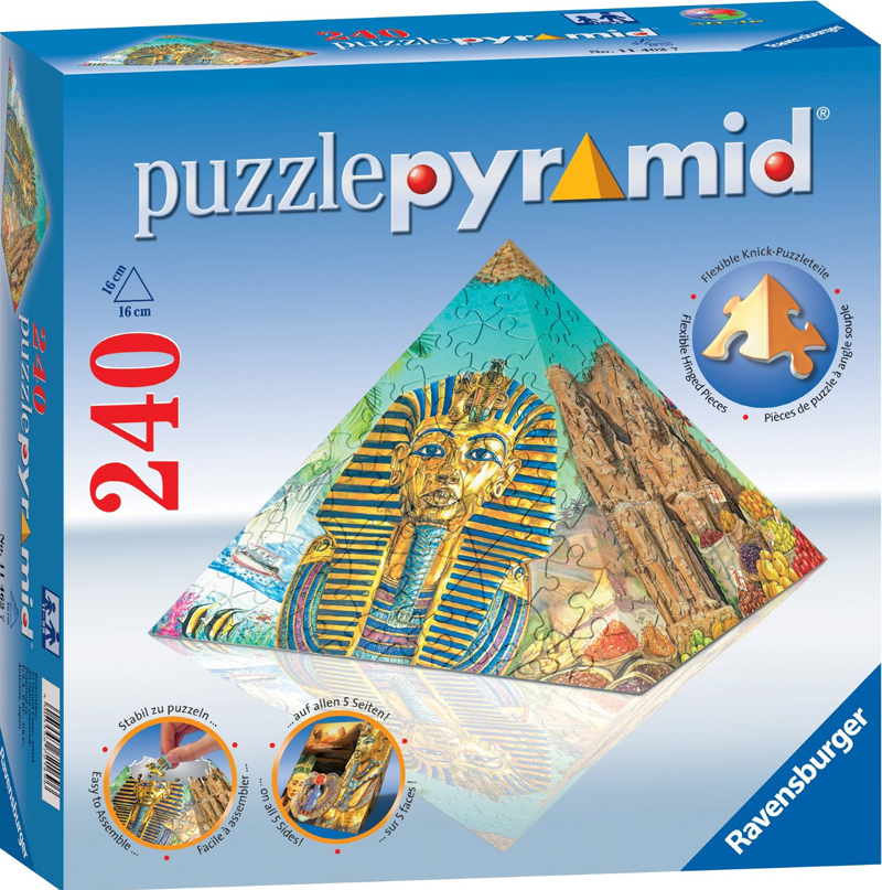3d jigsaw puzzle pyramid 6 inch puzzel showpiece collectable flexible hinged pieces puzzle-pyramid-3d