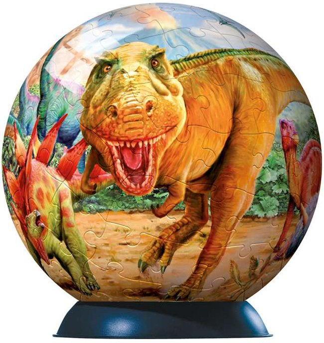 dinosaurs jigsaw puzzleball of the planet earth 9 inch spherical globe showpiece collection dinosaurs-puzzleball-ravensburger