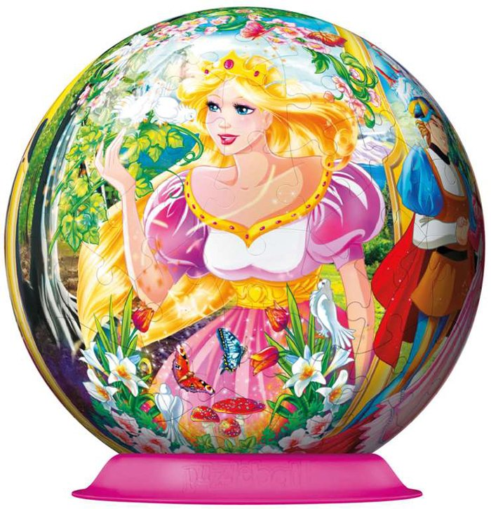 enchanted princess jigsaw puzzleball of the spherical 6 inch globe showpiece collection enchanting-priness-puzzleball