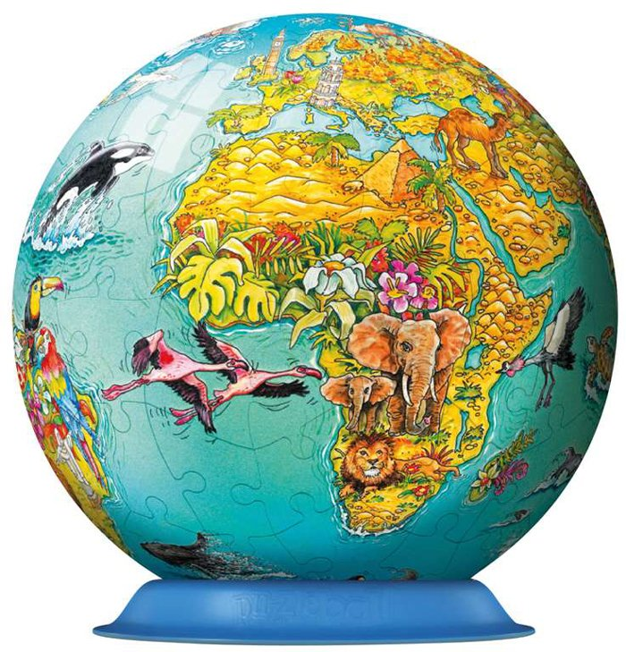 3d skylines jigsaw puzzleball of the planet earth 9 inch spherical globe showpiece collectable ball childrens-world-map-puzzleball-ravensburger