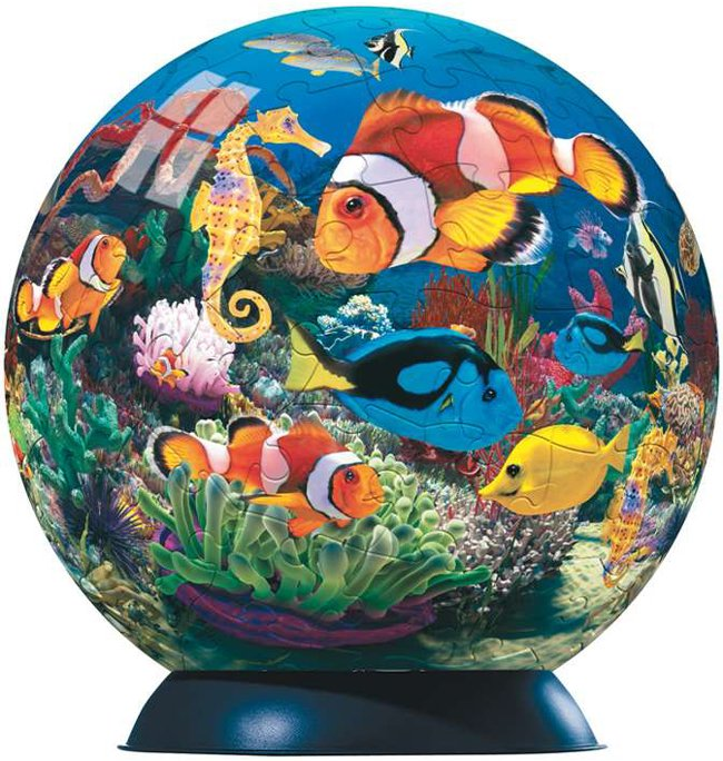 ocean world of colours jigsaw puzzleball of the planet earth 9 inch spherical globe showpiece collec ocean-world-of-colours-puzzleball-ravensburger