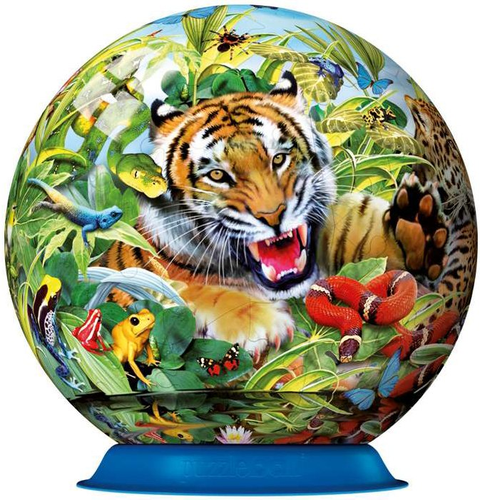 wonderful wildlife jigsaw puzzleball of the planet earth 9 inch spherical globe showpiece collection wonderful-wildlife-puzzleball-ravensburger