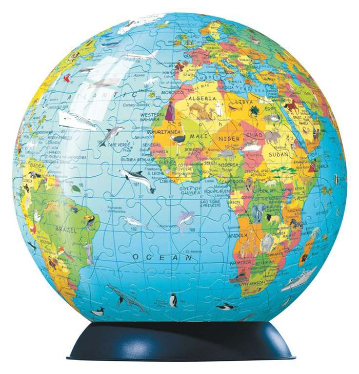 childrens globe jigsaw puzzleball of the planet earth 9 inch spherical globe showpiece collectable b childrens-globe-puzzleball-ravensburger