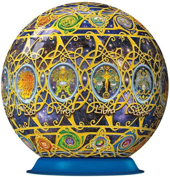 zodiac globe jigsaw puzzleball of the zodiac 6 inch spherical globe showpiece collectable b zodiac-puzzleball-ravensburger