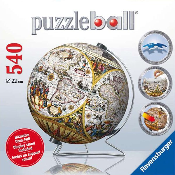 3d jigsaw puzzle ball of the ancient world globe planet earth 9 inch spherical globe showpiece colle ancient-world-map-stand