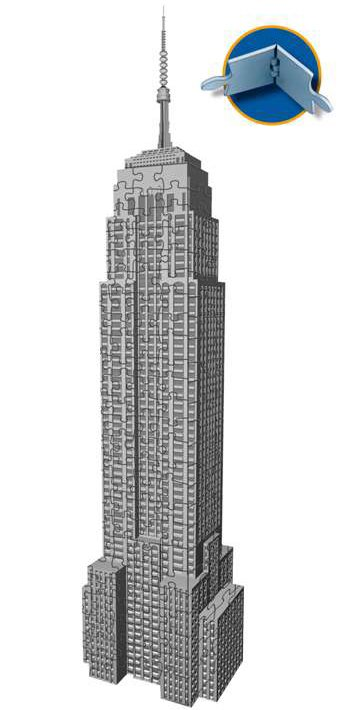 empire state building 3d jigsaw puzzle by ravensburger, 216 pieces, ages 10-99 empire-state-building-new-york-3d