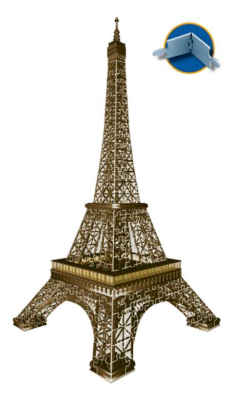 eiffel tower 3d jigsaw puzzle by ravensburger, 216 pieces, ages 10-99 eiffel-tower-3d