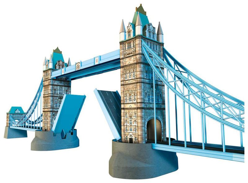 tower bridge london 3d jigsaw puzzle by ravensburger, puzzle of bridge tower-bridge-london