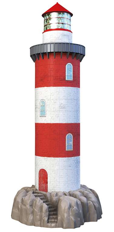 3d jigsaw puzzle of a lighthouse by ravensburger 3D wrebbit is dead and ravens is taking over where  lighthouse-3d-216-pieces