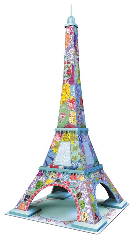 eiffel tower 3d jigsaw puzzle by ravensburger, 216 pieces, tula moon eiffel-tower-tula-moon