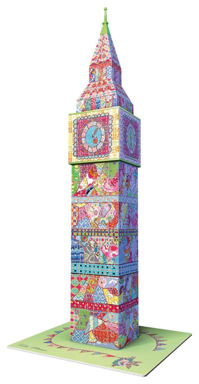 big ben 3d puzzle by tula moon made by ravensburger, 3diemnsional jigsaw puzzle, 216 pieces, 16inche big-ben-tula-moon
