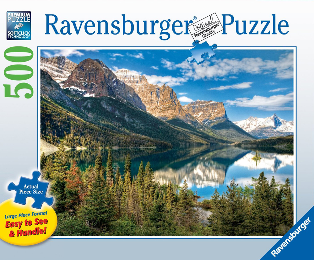 beautiful mountain side vista 500 piece jigsaw puzzle by ravensburger large piece format beautiful-vista