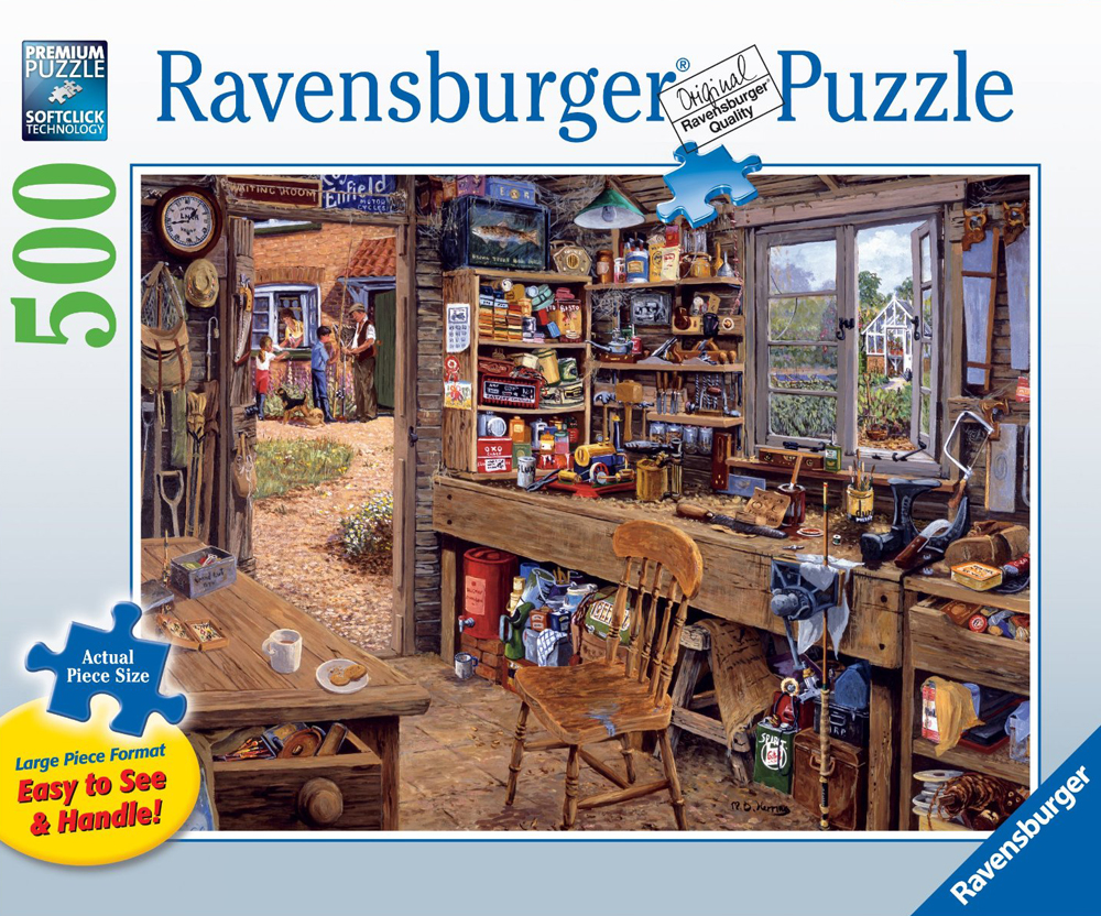 Ravensburgher Jigsaw Puzzle 500 Pieces Michael Herrings' Dad's Shed dads-shed