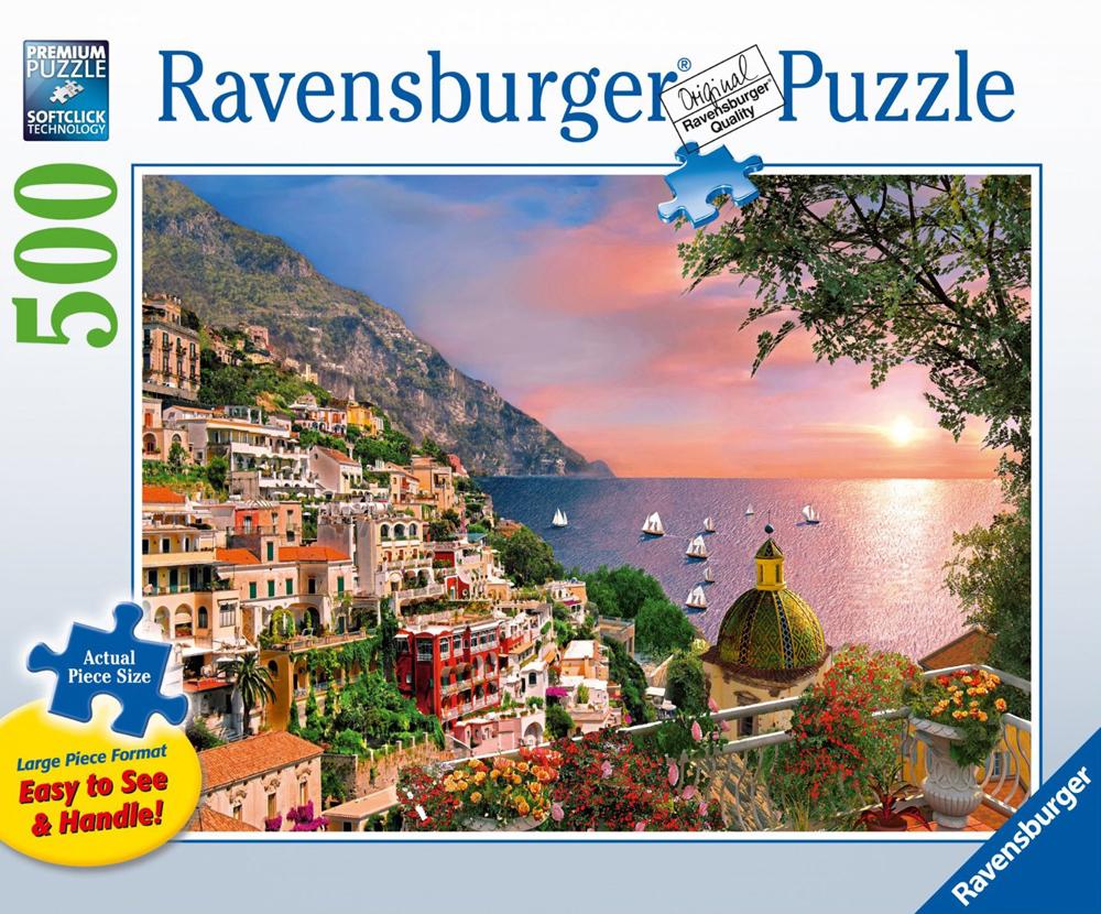 ravensburger jigsaw puzzle 500 pieces, italy positano italy-positano-500