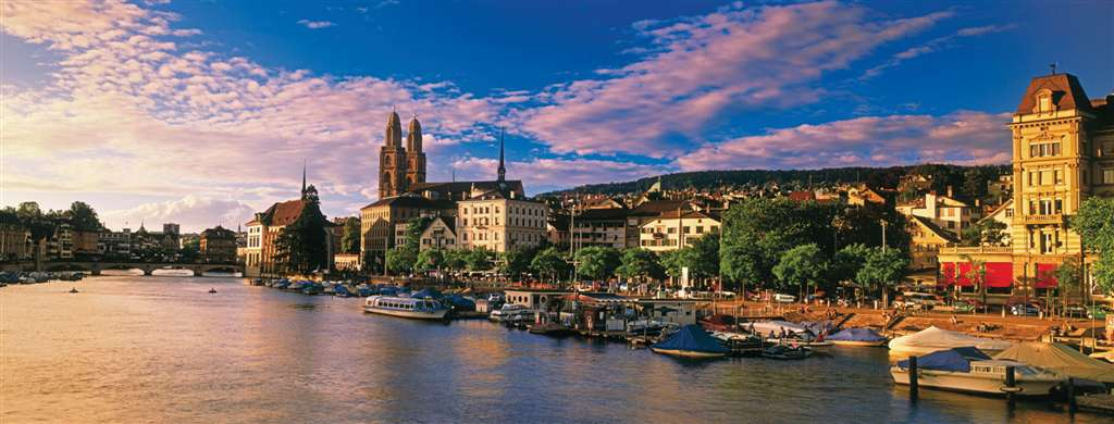 panoramic jigsaw puzzle of an evening in zurich switzerland ravensburger 1000 pieces photo by bildan panorama-evening-zurich-switzerland