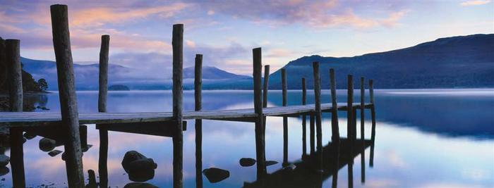idyllic lakeside Ravensburger 1000 Panoramic Piece Jigsaw Jungle Puzzle david noton photograph idyllic-lakeside