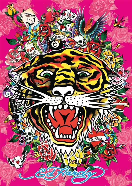 ed hardy tattoo art as 1000Piece Puzzle by RavensburgerJigsawPuzzles # 151882 ed-hardy-tattoo-art