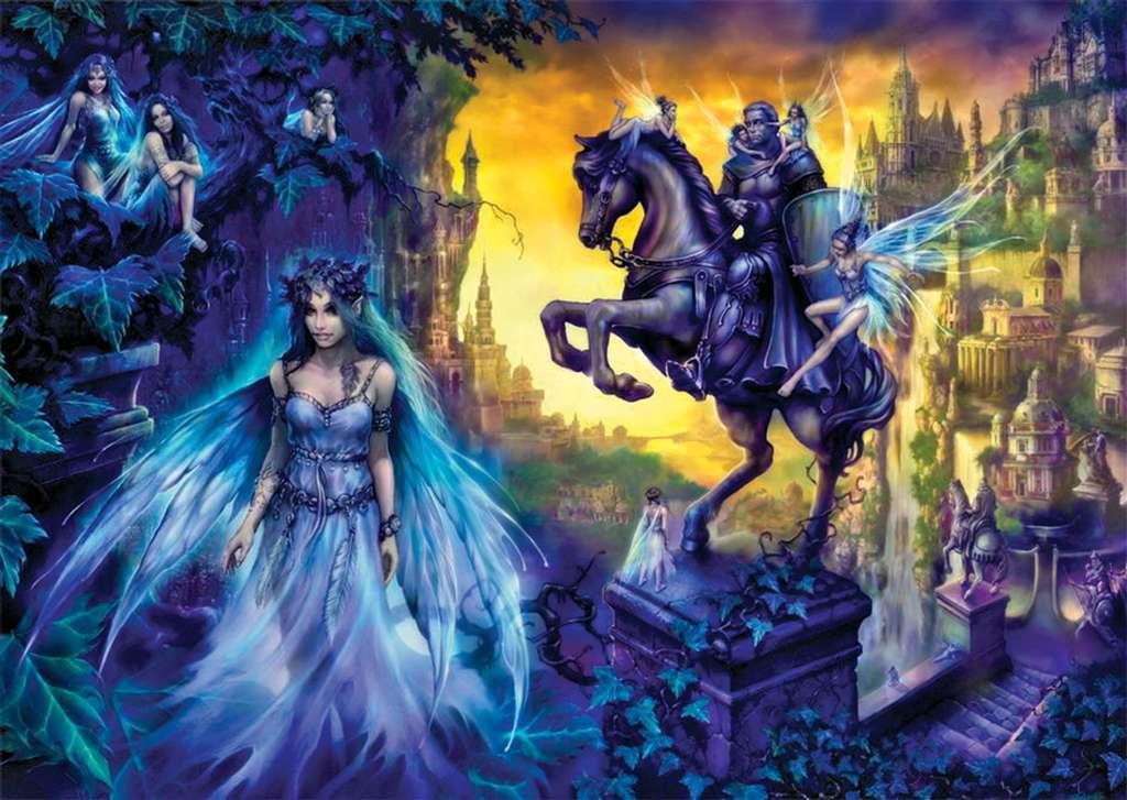 Elf Town fantasy artwork Eckhardt Freytag jigsawpuzzle by Ravensberger Games elftown elf-town