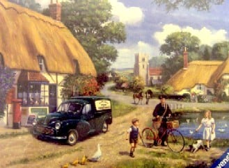 village postman 1000 Piece JigsawPuzzle painted by kevin walsh artist painter Ravensburger village-postman-kevin-walsh