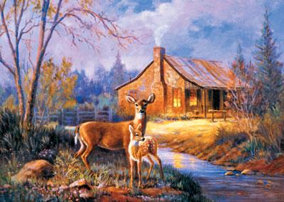 woodland deer jigsawpuzzle ravensburger germany 153503 marianne caroselli painting art woodland-deer-marianne-caroselli