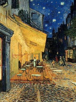 Caf� Terrace at Night Vincent Van Gogh painting jigsaw puzzle museum collection 1000pieces ravensbur cafe-terrace-at-night-vincent-van-gogh