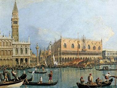 Canaletto's painting Saint Marks CucalePalace Venice 1000Pieces JigsawPuzzles Ravensburger 154029 stmarkscucalepalacevenice