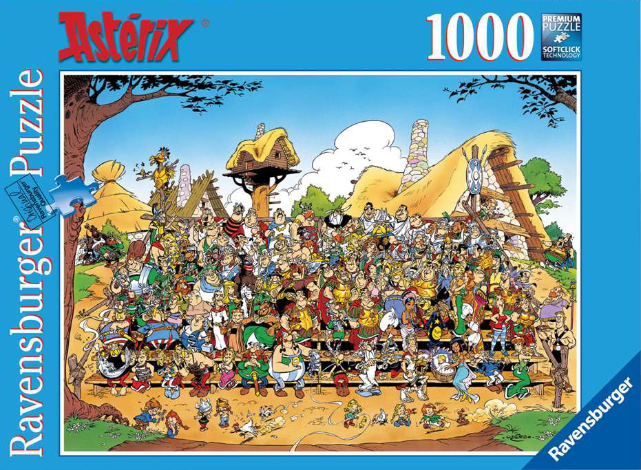 Asterix Family Portrait Cartoon Illustration 1000 Pieces Jigsaw Puzzle by Ravensburger Puzzles # 154 asterix-family-portrait